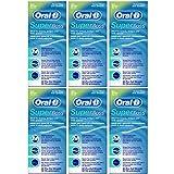 Oral-B - Hilo dental (sabor a menta, 50 hilos cortados, 6...