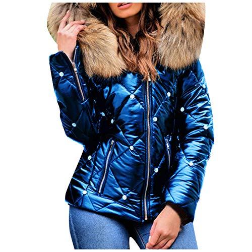 Arystk Womens Fashion Hooded Zipper Cotton Jacket Large Jacket Blouses Tops Pullover Sweatshirts Blue