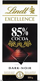 Lindt Excellence Dark 85% Chocolate, 100 gm (Pack of 1)