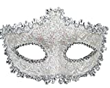 Geek-M Women Halloween Costume Mask Venetian Mask for Masquerade Ball Party White