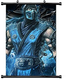 Wall Scroll Poster with Mortal Kombat Sub Zero Art Equipment Home Decor Wall Posters Fabric Painting 23.6 X 35.4 Inch