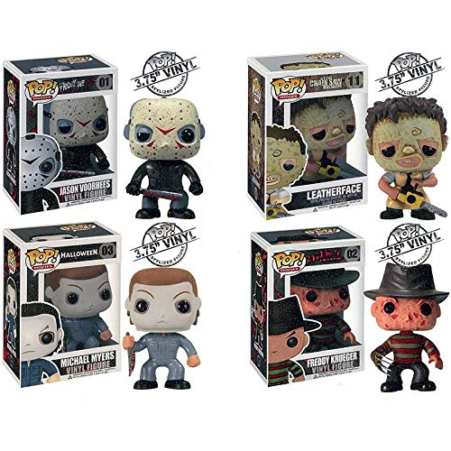 KYYT Funko Horror Movies Series Character Jason,Leatherface,Michael Myers,Freddy Pop! Chibi
