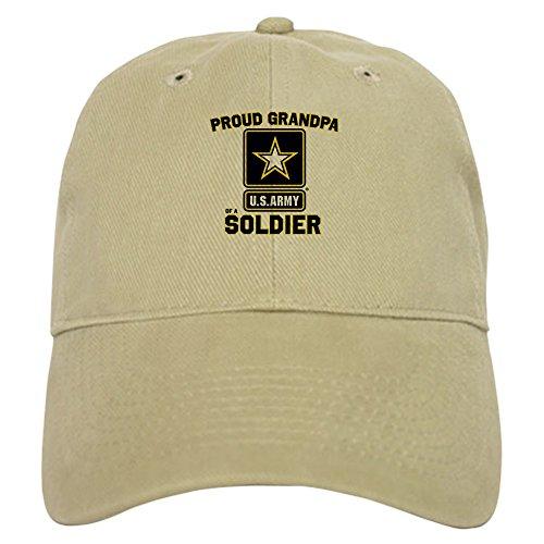 CafePress U.S. Army Proud Grandpa Baseball Cap with Adjustable Closure, Unique Printed Baseball Hat Khaki