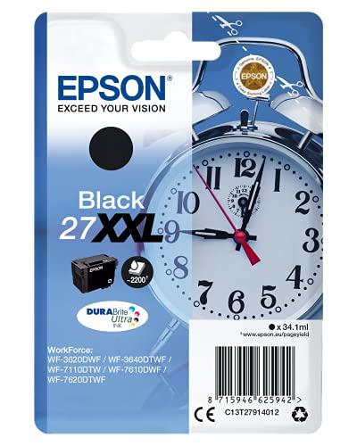 Epson 27 DURABrite Ultra Ink- Cartuccia d'Inchiostro, XXL, Nero (Black)