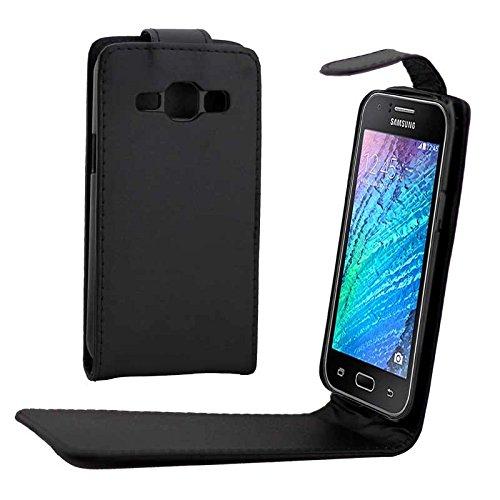 YANTAIANJANE Estuches de Cuero de teléfono Funda de Cuero de Flip Vertical con botón magnético for Samsung Galaxy J1 / J100