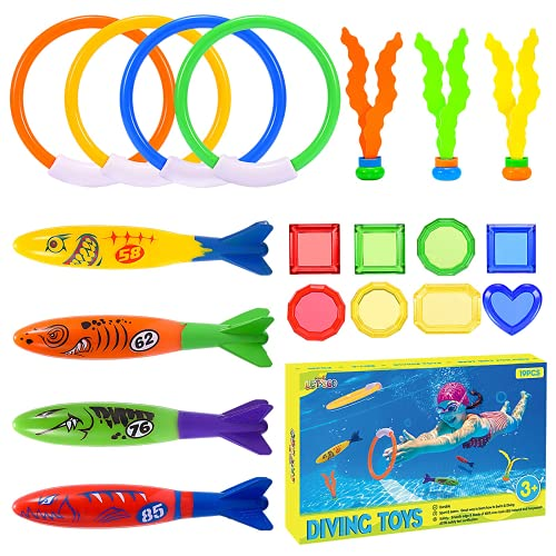 superwinky Diving Pool Toys for Kids 3-10, Swimming Dive Pool Party Toys Set for Kids 8-12 Summer...