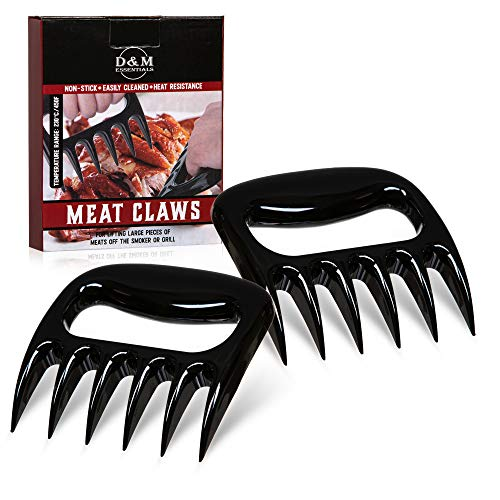 Meat Claws | Bear Claws Meat Shredder | BBQ Accessories | Meat Shredder Claws for Pulled Pork | Turkey Lifter Meat Fork used with Silicone Gloves or Grilling Gloves | Smoker Accessories