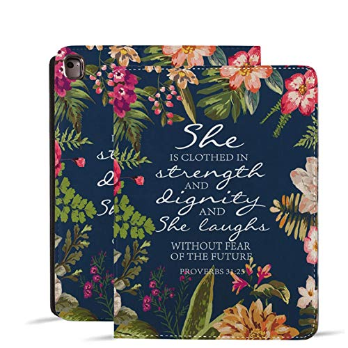 iPad 9.7 2018/2017 Case, iPad Air 2,Pro 9.7, iPad Air Case, Protective Leather Case, Adjustable Stand Auto Wake/Sleep Smart Case for ipad 6th/5th Gen,Bible Verse Quotes Psalm 31:25