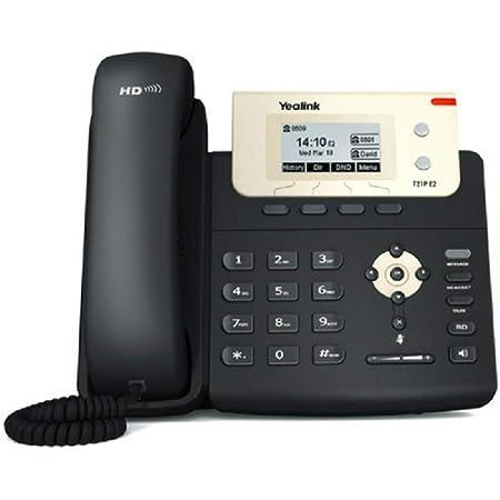 Yealink SIP-T21P E2 Telefono VoIP, Entry-level IP con 2 linee e voce HD, Nero