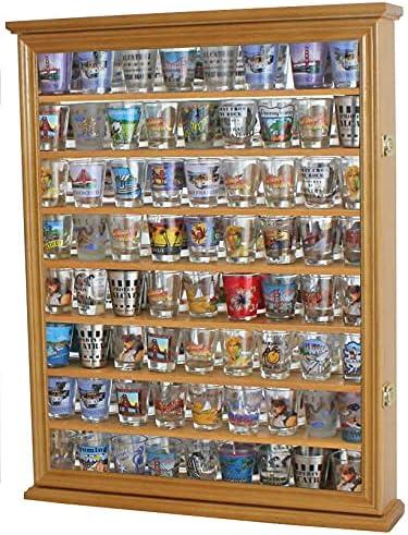 Shot Glass Display Case Wooden Wall Great interest Box Shadow Max 73% OFF Locka Holder Rack