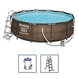Bestway 56709 piscina fuori terra Piscina con bordi Piscina rotonda 9150 L Marrone