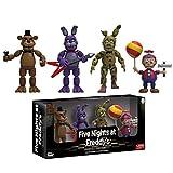 4Pcs Game Toys FNAF Five Nights At Freddys Figuras Freddy Balloon Boy Springtrap Bonnie FNAF...