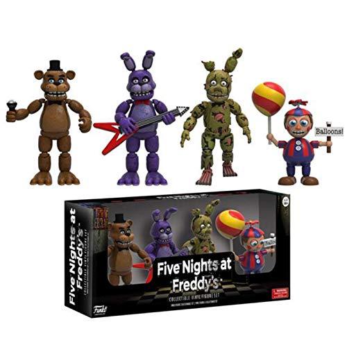 4Pcs Game Toys FNAF Five Nights At Freddys Figuras Freddy Balloon Boy Springtrap Bonnie FNAF Nightmare Series Figuras De Acción Modelo De Juguete Niños Regalos De Cumpleaños