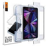 Spigen Glas.tR EZ Fit Panzerglas kompatibel mit iPad Air 4 2020, iPad Pro 11 Zoll 2021, 2020, 2018 Schablone für Installation, Kristallklar, Kratzfest, 9H Festigkeit Schutzfolie