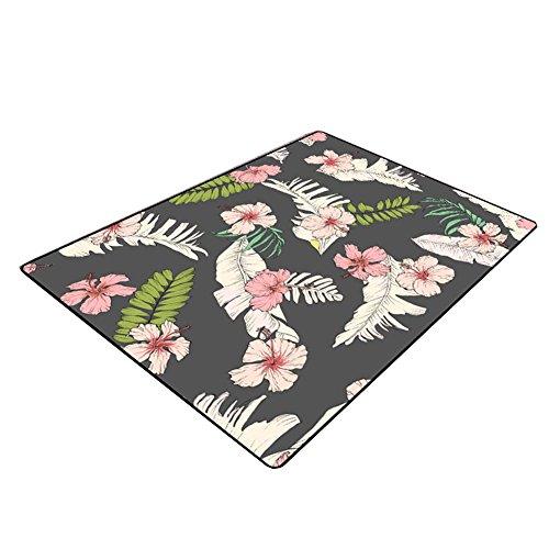 LiuJF Plant bloem tapijten, groene plant woonkamer thee tafel slaapkamer nachtkastje tapijt prototype kamer vloermat gemakkelijk te reinigen lengte 80-140 cm 80 * 120cm