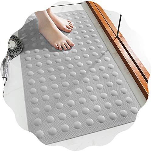 JIAJUAN Rechteck Dusche Duschmatte Natürlich Gummi Bad rutschfest Badewannenmatten mit Saugnapf, 4 Farben, 3 Größen (Color : Gray, Size : 50x100cm)