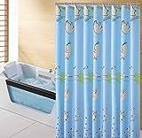 WARHBD Duschvorhang Duschvorhang Textil Anti-Schimmel Blaues Schwein Wasserdichter Badvorhang Anti-Bakteriell,Nicht Gerüche,Mit Duschvorhangring Mit Haken-180x200cm