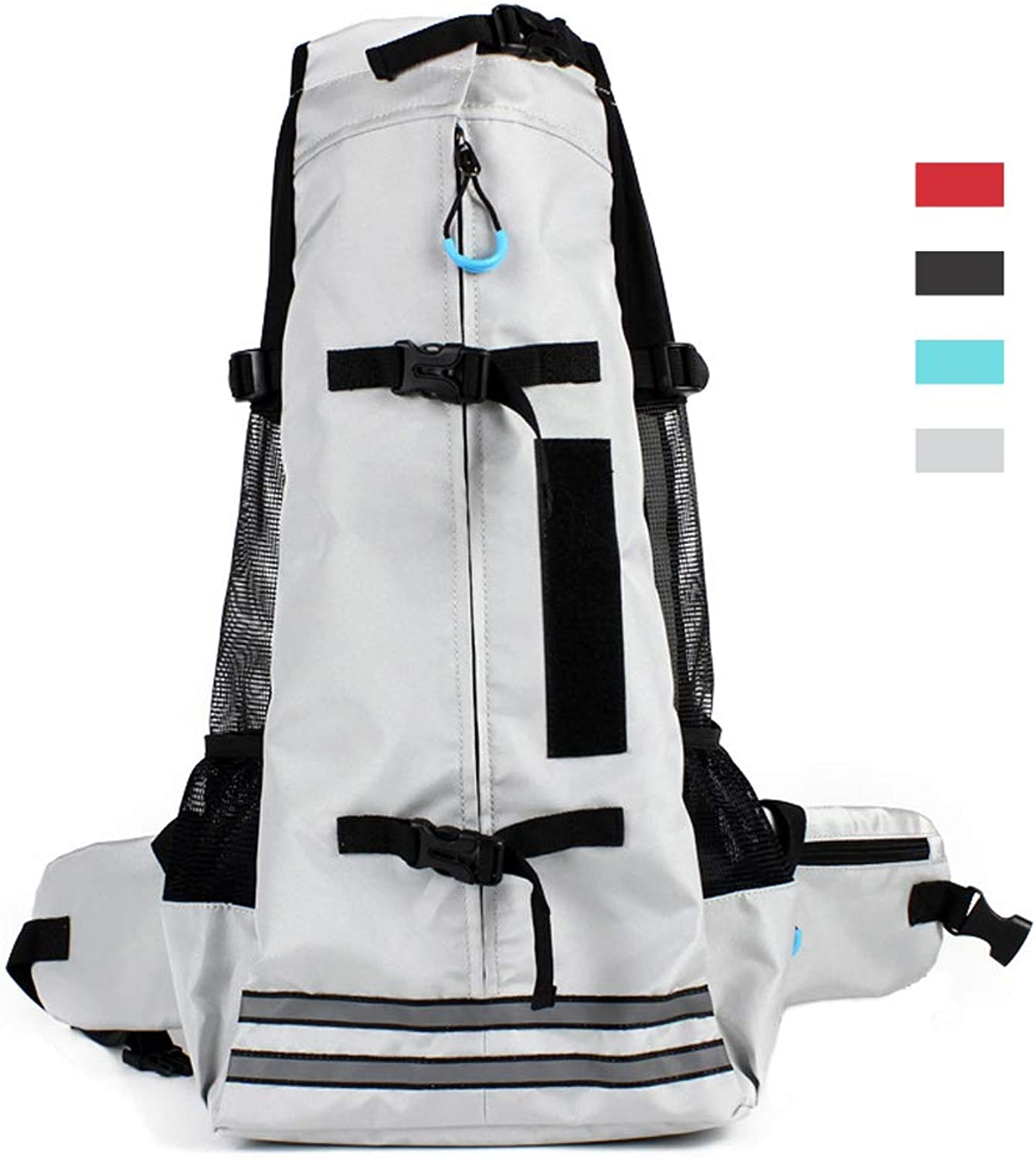 RC GearPro Dog Carrier Backpack, Pet Bag for Hiking Travel Camping Outdoor (M, Grey)