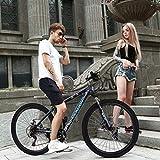 Junior Aluminum Full Mountain Bike, Stone Mountain 26 Inch 21-Speed Bicycle,Student Outdoors Unisex Portable Bike,Outroad Mountain Bike (Blue)