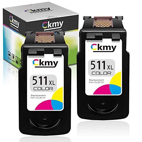CKMY Remanufactured Druckerpatronen Farbe für Canon 511 XL CL-511XL Tintenpatronen für PIXMA MP230 MP280 MP495 MP270 MX360 MX420 IP2700 MP250 MP490 MX410 MP240 MX340 MX350 MX320 MP260 IP2702 MP235