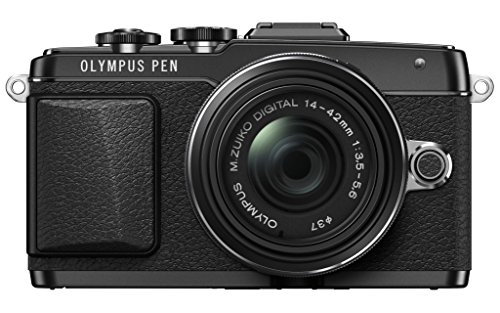 Olympus E-PL7 16MP Mirrorless Digital Camera with 3-Inch LCD with 14-42mm IIR Lens (Black)