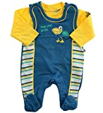 Jacky Jungen Baby-Strampler & Langarm-Shirt Pelican Bay blau/gelb, Gr. 50 (50)