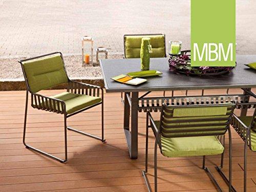 MBM Hochwertige Schmiedeeisen Sitzgruppe Marylin 6-Personen/Gartentisch/Terrassentisch/Balkontisch