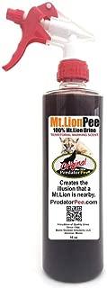 Predator Pee 100% Mountain Lion Urine - Territorial Marking Scent - Creates Illusion That Mountain Lion is Nearby - 16 oz