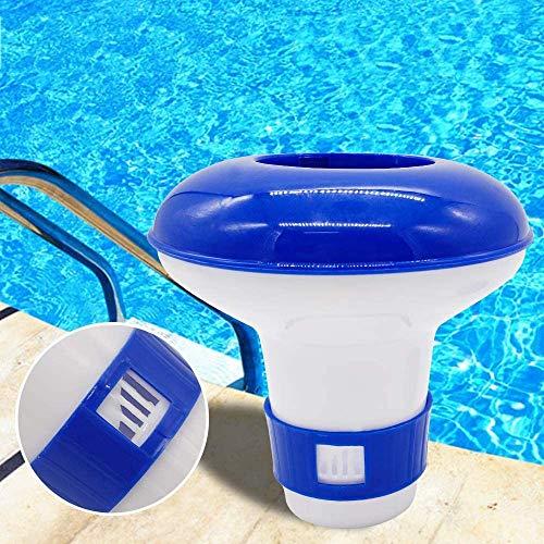 Dispensador flotante de cloro tabletas de bañera de hidromasaje piscina spa, piscina flotante de cloro, soporte de tableta ChemicalChlorine