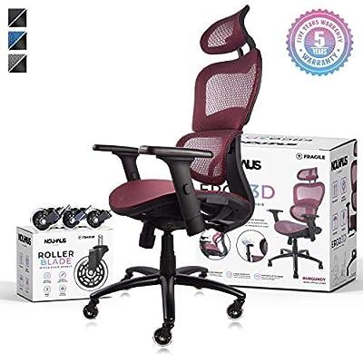 ergonomic office chair red