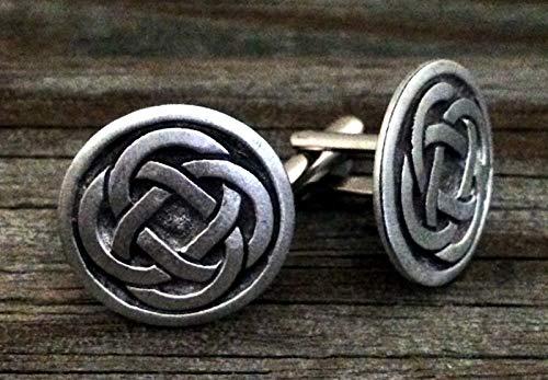 Celtic Quad Knot Metal Cufflinks