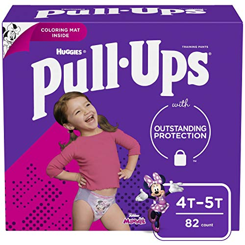 Pull ups Learning Designs for Girls Potty Training Pants, 4t-5t (38-50 Lbs.), 82 count (Packaging May vary)