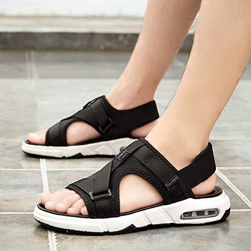 Weier. Ben Nieuwe zomer mannen sandalen, slippers, trend, buiten, sandalen, buitenkleding, één woord sleeptouw, strand schoenen@44_2901 zwart en wit