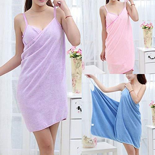Toalla Textil para El Hogar, Batas De Mujer, Toalla De Baño, Vestido para Mujer, Dama, Secado Rápido, SPA De Playa, Ropa De Dormir Mágica para Dormir