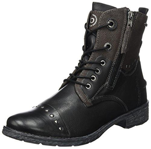 bugatti Damen 421330311015 Stiefel, Schwarz (Black/Dark Grey), 38 EU