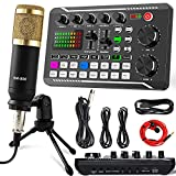 Streaming Microphone,Recording Microphone Equipment,Podcast Microphone Audio Mixer kit,and Live Sound Card, Condenser Microphone for PC/Laptop/Phone/Pad, Mic for Streaming/Podcasting/Recording