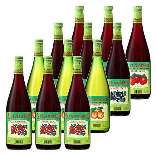 Allacher Fruchtwein-Mix-Paket, Fruchtwein aus Österreich 6% vol. (12 x 1 l)
