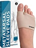 Metatarsal Pads - Gel Sleeves Forefoot Cushion Pads - Fabric Soft Foot Care Ball of Foot Cushions for Bunion Forefoot Blisters Callus Supports Metatarsalgia Pain Relief ( Beige )