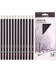 مجموعة أقلام رسم احترافية، 12 قطعة من أقلام الرسم، 8B,7B, 6B, 5B, 4B, 3B, 2B, B, HB, H, أقلام جرافيت 2H مثالية لفن الرسم والرسم