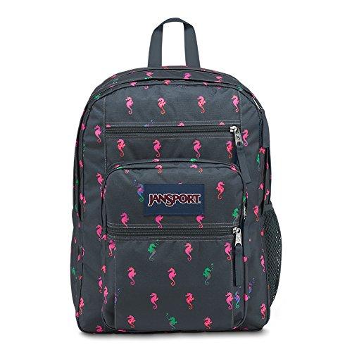 JanSport Big Student Backpack - Dark Slate Seahorse - Oversized