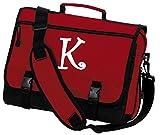Personalized Laptop Bag Custom Printed Monogrammed Messenger Bag Red