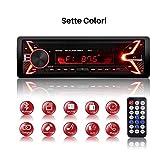 Autoradio Bluetooth QINFOX Lettore MP3 Auto Stereo 7 Colori LCD Universal Autoradio Stereo Autoradio Ricevitore Lettore con Bluetooth/USB/EQ/SD/AUX/FM con Controllo Remoto