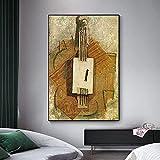 Abaabul Pablo Picasso - Lienzo decorativo para pared, diseño de violín de España