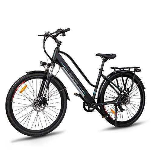 Macwheel 28' Electric Bike Adults, 250W Ebike with 36V 10Ah Removable Lithium-ion Battery, Lightweight Suspension Fork (700C Cruiser-550)