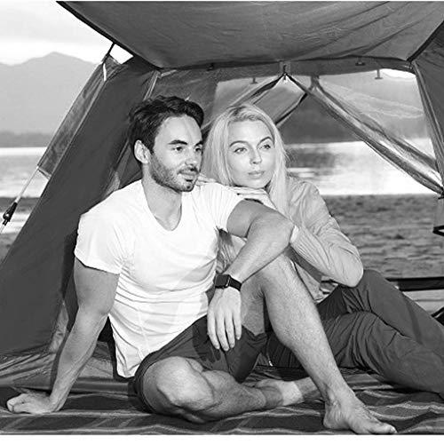 Tents Zelt Außenzelt Hydraulikgeschwindigkeit Offenes Zelt Verdickendes Regenzelt 3-4 Personen Campingzelt,Rot,215 * 215 * 142 cm