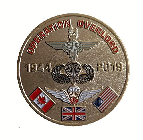 1000 Flaggen D-Day Landings Gedenkmünze Operation Overlord 75. Jahrestag 1944 bis 2019