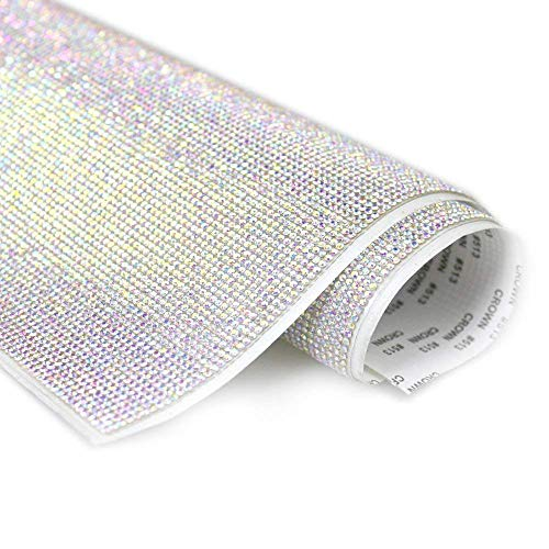 Self-Adhesive Sparkling Round Rhinestone Stickers Sheet,for Arts & Crafts,DIY Event Decoration,Gift Decoration,Phone Decoration,car Decoration,Embellishment Tablet 24x40cm (9.45x15.75inch)-AB Color