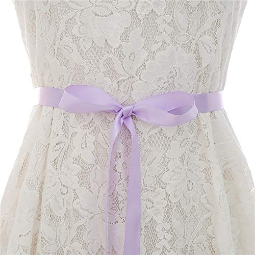Bridal Sash Kralen Rose Gold Rhinestone Wedding Dress Belt Pearl Rhinestone bruid bruidsmeisje jurk Belt Wedding Belt (Color : Lavender, Size : 46cm x 1.5cm)