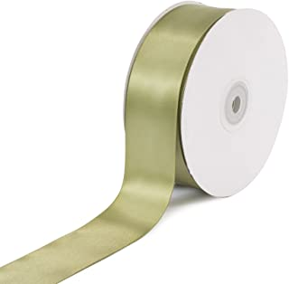 Creative Ideas Solid Satin Ribbon, 1-1/2-Inch by 50 Yard, Moss Green', Solid