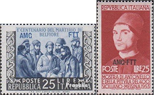 Prophila Collection Trieste - Zona Un 196,197 (Completa.edición.) 1953 Martyrium, Messina (Sellos para los coleccionistas) Cristianismo